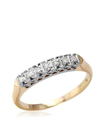 Fashion Strada Ladies 0.1CTW Diamond 14K Two Tone Ring
