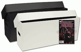 2-Two-BCW-Long-Comic-Book-Storage-Box-2-Pack-2-Boxes-Plastic-Corrugated-Materials-White-or-Black-Comic-Book-Collecting-Supplies