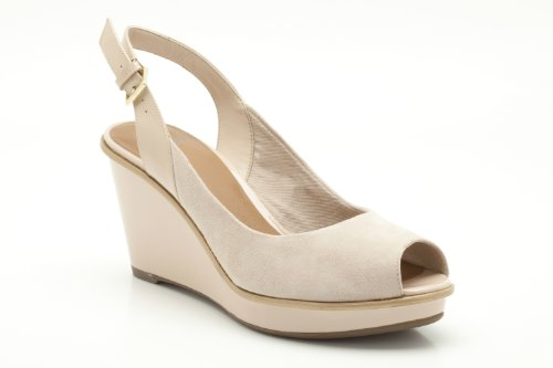 b68a6a04658a Clarks Womens Tonic Fizz Nude Suede Sandals 5 UK