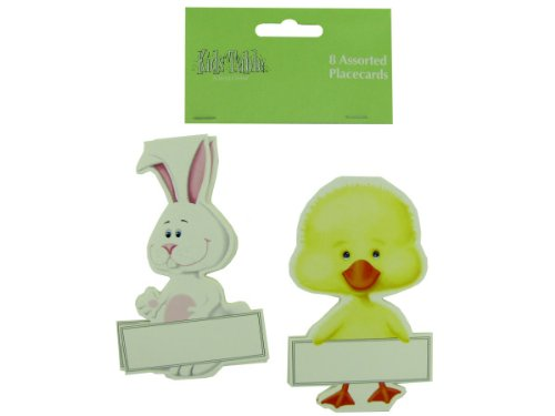 8 Pk Bunny And Chick Placecards - Pack Of 96 front-1039290