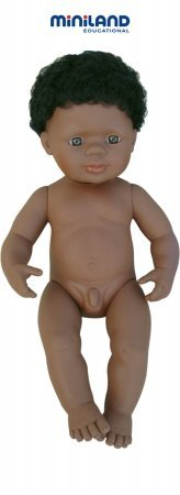 Miniland 15'' Anatomically Correct Baby Doll, African-American Boy front-766772