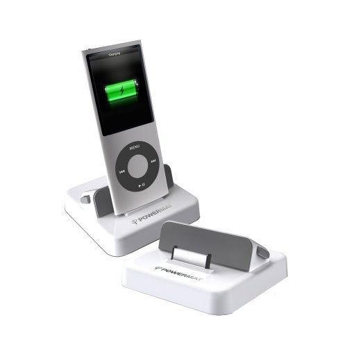 Powermat PMRAID1 Receiver Dock for iPod and iPhone (White)