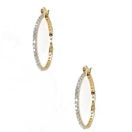 CZ ROUND HOOP EARRINGS
