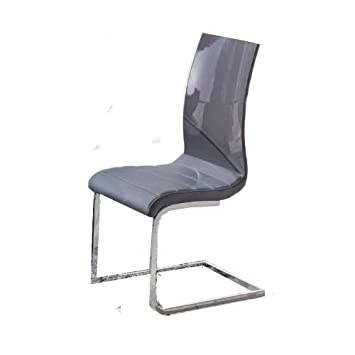 K&D Matisse Lacquer Dining Chair, Set of 2 (Grey)