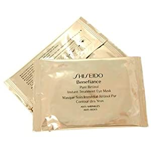 Benefiance by Shiseido Pure Retinol Instant Treatment Eye Mask 12 packettes sheets x 2