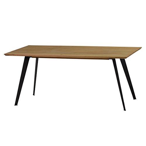 Esstisch-Tisch-Esszimmertisch-Lalon-180x90-cm-Modernes-Industrie-Design-Massivholz-Holz-Eiche-massiv-Gestell-Metall
