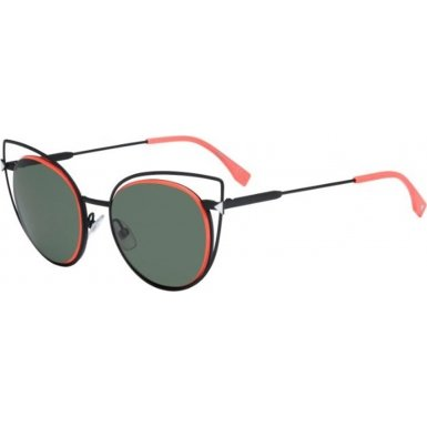 Sunglasses Fendi 176/S 0003 Matte Black / DN green lens