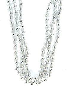 Silver Bead Necklaces (1 dz) - 1