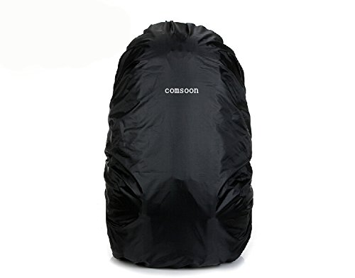 Comsoon(Tm) Waterproof Rainproof Snowproof Backpack Rain Cover Protectors (Rain Cover-Black) front-88056