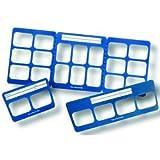 Flow Dental 81-2345 Perfect Pocket Mounts, 10 Windows, B Wing, Vinyl, Size 0 (Pack of 100)