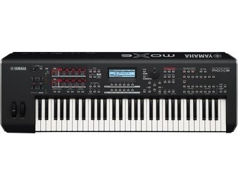Yamaha MOX6 MOX 6 61 Key Workstation Synthesizer Semi Weighted Keyboard MIDI USB