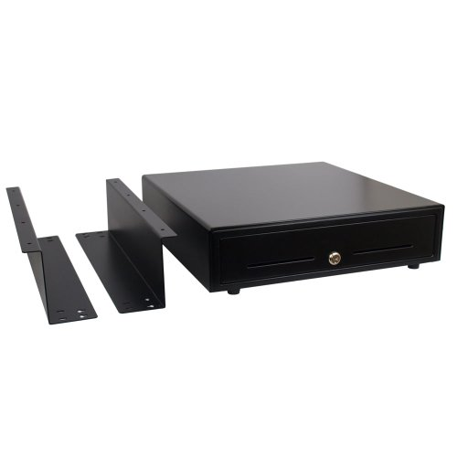 ANGEL POS 1520050 Under Counter 16-Inch POS Cash Drawer with Mounting Bracket/Mount Heavy Duty RJ-12 Key-Lock Cash Register with Bill and Coin Trays Cash Register (Cash Register With Lock compare prices)