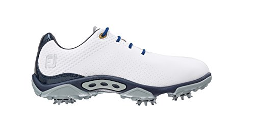 Footjoy Junior Boys Golf Shoes 6 Us Youth Medium White/Navy