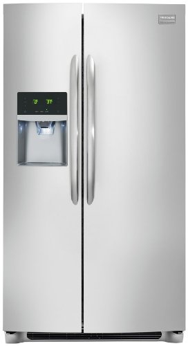 Frigidaire FGHS2631PF Gallery 26.0 Cu. Ft. Stainless Steel Side-by-Side Refrigerator - Energy Star