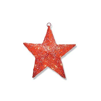 Pre-Lit Outdoor Christmas Decorations-Sisal Star