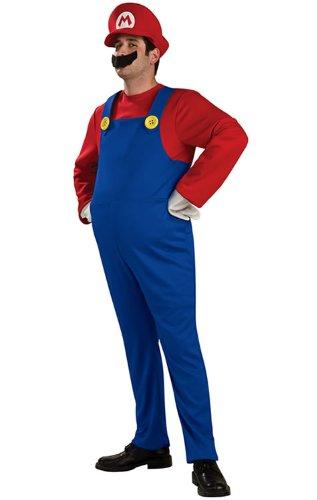 スーパーマリオブラザーズ マリオ Deluxe 衣装、コスチューム 男性用 Mサイズ