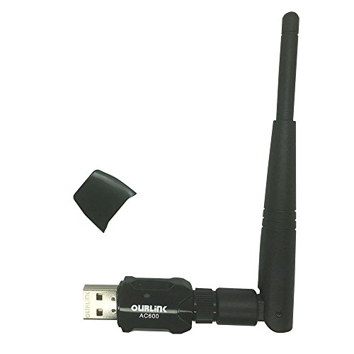 Glam Hobby 600Mbps mini 802.11ac Dual Band 2.4G/5G Wireless Network Adapter USB Wi-Fi Dongle Adapter with 2dBi Antenna Support Windows XP,Win Vista,Win 7,Win 8.1, Win 10,Mac OS X 10.6-10.11.5 (Wireless Ac Dual Band Usb Adapter compare prices)