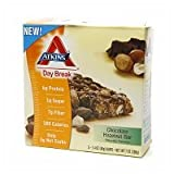 Atkins Day Break, Chocolate Hazelnut Bar, 5 Count (Pack of 2