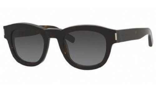 Yves Saint Laurent Yves Saint Laurent Bold 2/S Sunglasses-0086 Dark Havana (HD Gray Grad Lens)-49mm