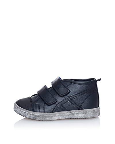 BILLOWY Zapatillas abotinadas Velcros Azul