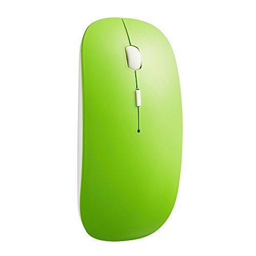 TONOR dünn schlank still Bluetooth 3,0 lautlose kabellos schnurlos Funkmaus wireless Maus 800/1200/1600 DPI für PC Mac Tablet Laptop Grün