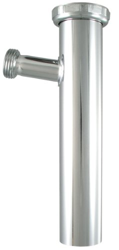 Ldr 505 6425 Dishwasher Sweat Branch Tailpiece, 1-1/2-Inch X 8-Inch, 1/2-Inch, Chrome Plated Brass front-526723