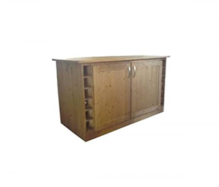 Wye Pine Kitchen Island - Finish: Lacquer - Stain: Waterbased