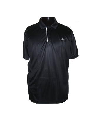 Buy Adidas Mens Tennis Sequencials Galaxy Polo (Black White) by adidas