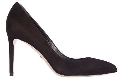 Gucci decolletes decoltè scarpe donna con tacco camoscio kid nero EU 40 338723 C2000 1000