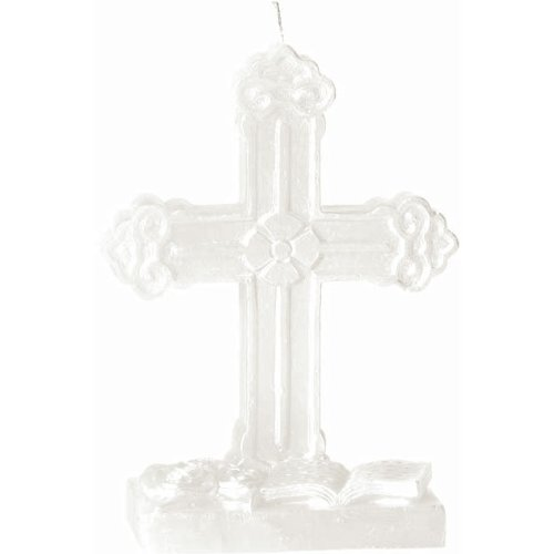 "Religious Cross Candle 3-1/4"" W X 1-1/2"" D X 4-1/2"" H"