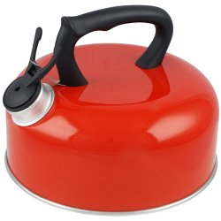 Red Whistling Kettle 2l & Boxed For Camping Gas