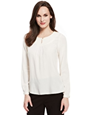 M&S Collection Embroidered Bib Top