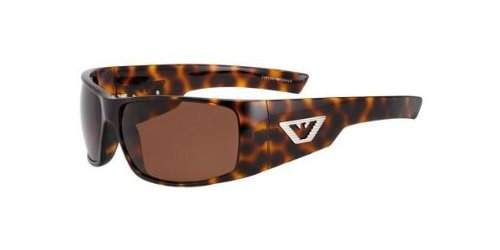 Emporio Armani Men's 9570 Dark Tortoise Frame/Dark Brown Lens Plastic Sunglasses