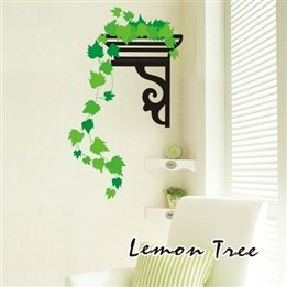 Country Style Vine Removable Decorative Wall Sticker For Smooth Surface, Living Room, Kids Room, Bedroom, Tv Sofa Background