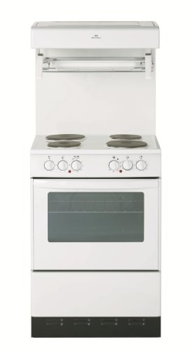 New World 55HLGEWH 550mm Single Electric Cooker High Level Grill White