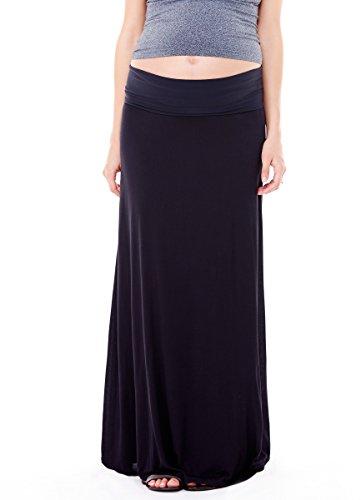 Ingrid & Isabel Women'S Maternity Flowy Maxi Skirt, Black, Medium front-745844