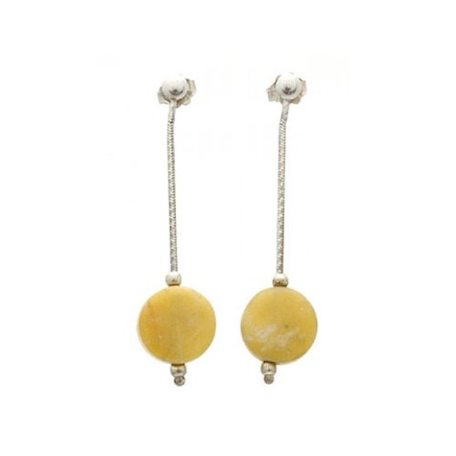 apop nyc Sterling Silver Semi Precious Stone Drop Earrings