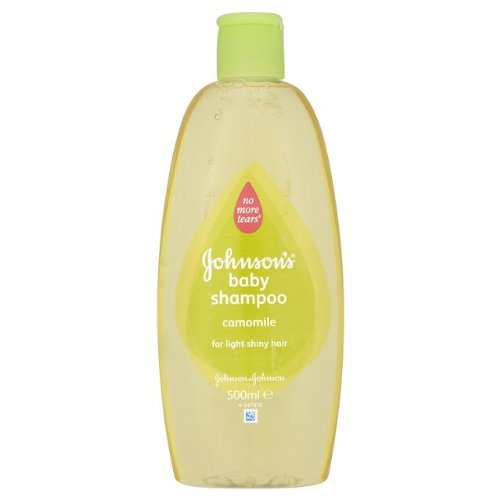 Johnson's Baby Shampoo No More Tears with Chamomile for Light Shiny Hair 16.9 0z / 500 Ml (Pack of 2)