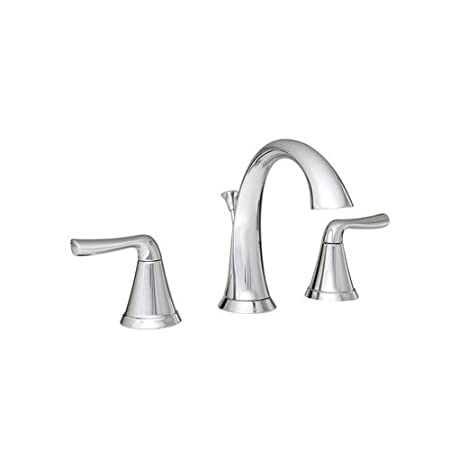 Mirabelle MIRWSPR800CP Polished Chrome Provincetown Widespread Bathroom Faucet - Includes Pop-Up Drain Assembly