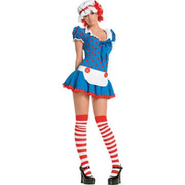 Rag Doll Costume - X-Small - Dress Size 0-2