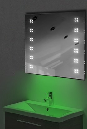 Ambient Ultra-Slim Led Bathroom Mirror With Demister Pad & Sensor K37G