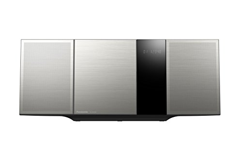 Panasonic SC-HC397EG-S Design Micro HiFi System (LincsD-Amp Digitalverstärker, Smartphone-Kopplung, NFC, Bluetooth, 40 Watt, USB, UKW und Digitalradio, Nano Bambus Lautsprecher) silber