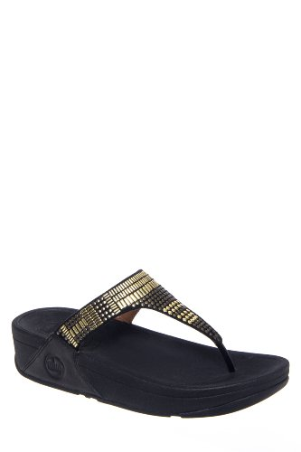 FitFlop Aztek Chada Low Wedge Embellished Thong Sandal