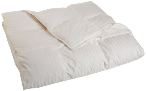 Grand Down All Season Down Blend Oversized 330 Thread Count Full/Queen Comforter Stripe, White front-587456