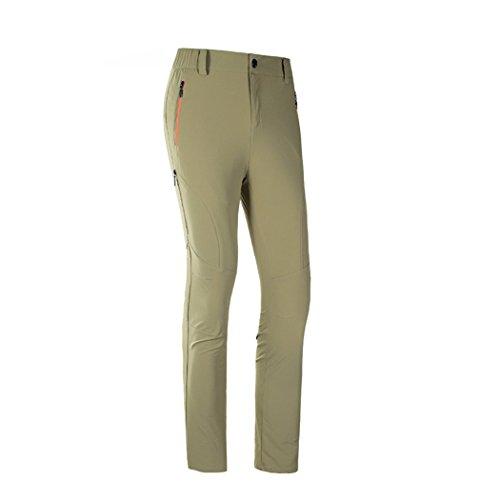 Modern Fantasy Womens Quick-dry Elasticity Waterproof Outdoor Sport Pants Size US M Khaki