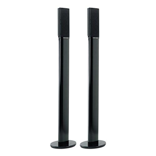 HarmanKardon-HTFS-2-B-Aluminium-Sulen-Standfu-mit-Kabelkanal-Paar-Hhe-876mm-kompatibel-mit-Satellitenlautsprechern-aus-Heimkino-Lautsprechersystemen-HKTS-9-HKTS-16-und-HKS-4-schwarz