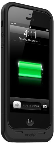Great Sale MophieJuice Pack Air Case for iPhone 5 - Retail Packaging - Black
