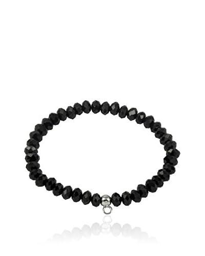 Merii Armband Silber Rhodiniert Obsidian