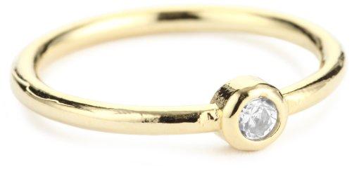 Lisa Stewart Clear Single Stone Ring, Size 7