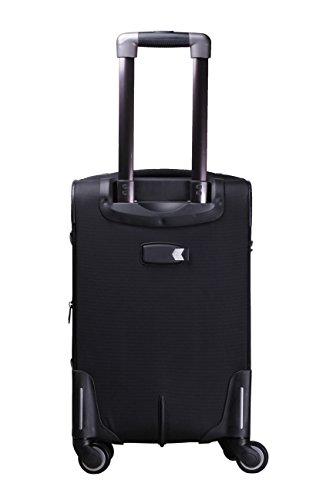 F Gear Bavaria Black Orange Polyester 66(cm) Soft sided Suitcase